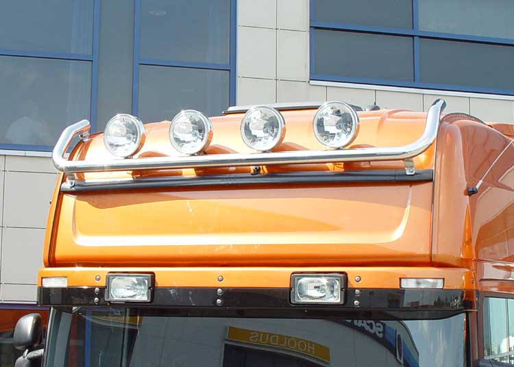 Lamp holder for roof, fi 60 mm, polished SCANIA R(Topline)