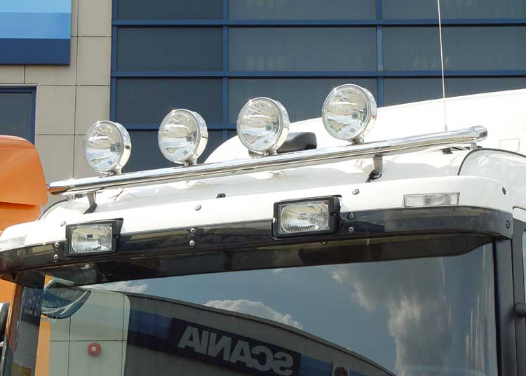Lamp holder for roof, fi 60 mm, polished SCANIA R (N - cab)