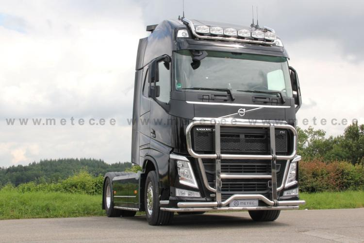 Cattle guard MEGA fi 76+60 mm, polished VOLVO FH13-