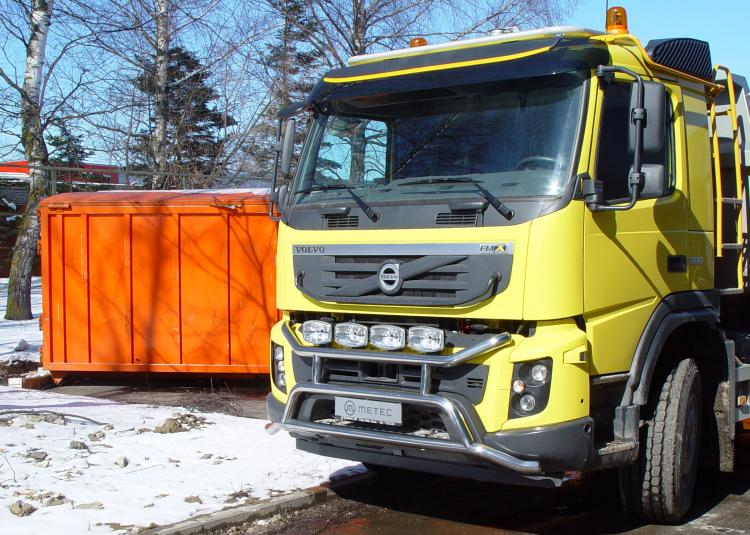Lamp holder ´over the bumper´,MEGA, polished VOLVO FMX