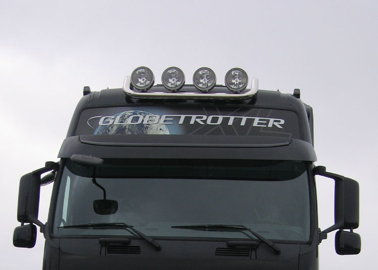 Lamp holder for roof, fi 60 mm, polished VOLVO FH 08- (Globetrotter XL)