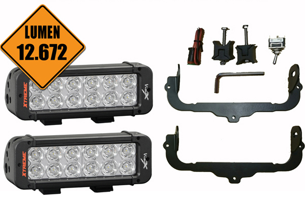Sada LED světel X-VISION 2x60W do clony SCANIA R/NEW R