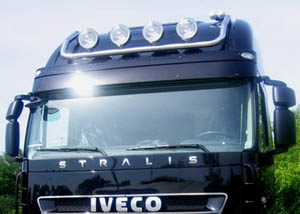 Lamp holder for roof, fi 60 mm, polished IVECO Stralis(AT; CUBE AT)