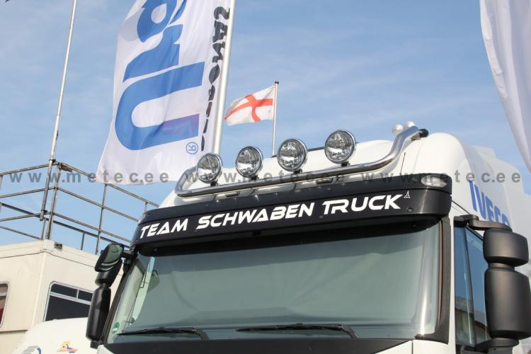 Lamp holder for roof, fi 60 mm, polished IVECO Stralis (CUBE AS)