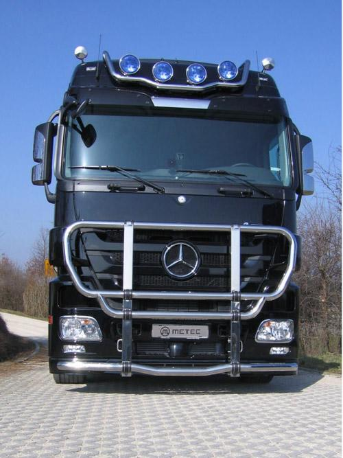 Cattle guard MEGA fi 76+76 mm, polished MB Actros 08-