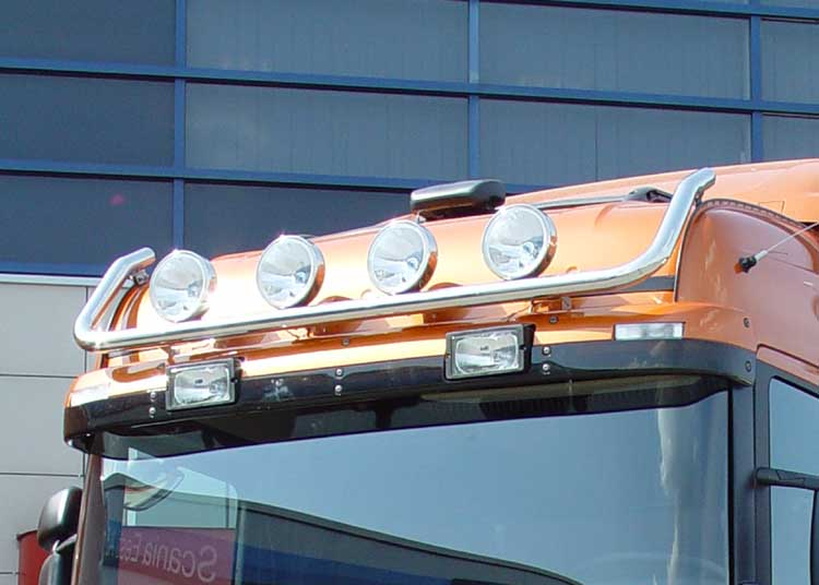 Lamp holder for roof, fi 60 mm, polished SCANIA R(H - cab)